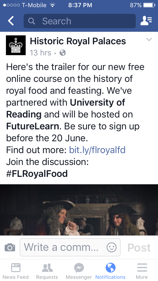 Royal Food and Feasting